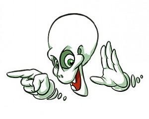 Spooky Skull - CarTattoo