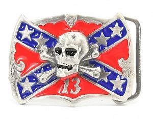 Bältesspänne Dixie-Flag Skull