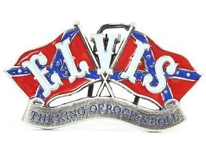 Bältesspänne Elvis Dixie-Flags