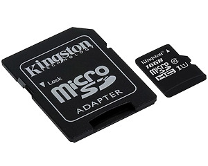 Minneskort, Kingston Canvas Select MicroSDHC 16GB