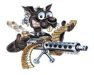 Machine Gun Rat - Dekal