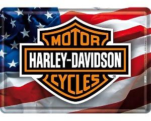 Vykort Harley Davidson - USA