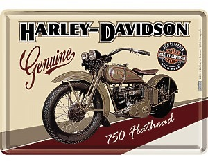 Vykort Harley Davidson - Genuine & Bike