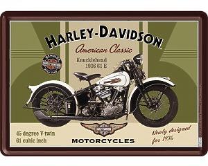 Vykort Harley Davidson - Knucklehead