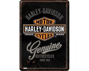Vykort Harley Davidson - Genuine & Logo