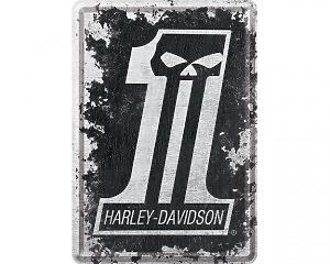 Vykort Harley Davidson - Number One