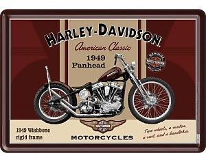 Vykort Harley Davidson - 1949 Panhead
