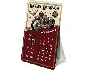 Vykort Harley Davidson - Kalender 750 Flathead