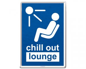 Metall-Vykort Chill Out Lounge