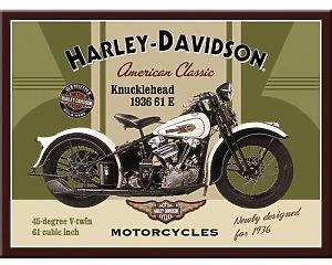 Magnet Harley Davidson - Knucklehead 1936