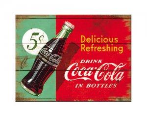 Metall-Vykort Coca-Cola Delicious