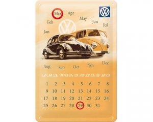 3D Metallskylt VW - Kalender Folkabuss & Bubbla 20x30