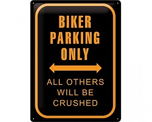 3D Metallskylt Best Garage - Biker Parking 30x40