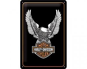 3D Metallskylt Harley-Davidson Bird & Logo 20x30
