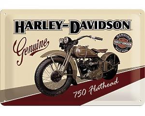 3D Metallskylt Harley-Davidson Genuine 750 Hothead 20x30