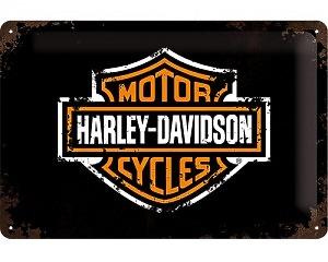 3D Metallskylt Harley-Davidson Logo 20x30