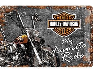 3D Metallskylt Harley-Davidson My Favorite Ride 20x30