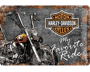 3D Metallskylt Harley-Davidson My Favorite Ride 20x30