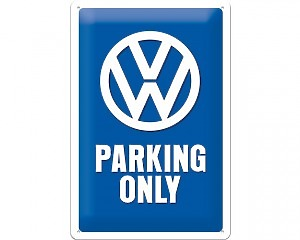 3D Metallskylt VW - Parking Only 20x30