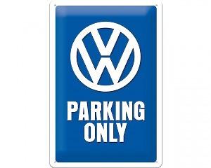 3D Metallskylt VW - Parking Only 20x30