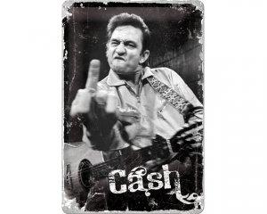 3D Metallskylt Johnny Cash 20x30