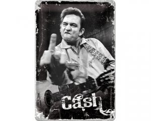 3D Metallskylt Johnny Cash 20x30