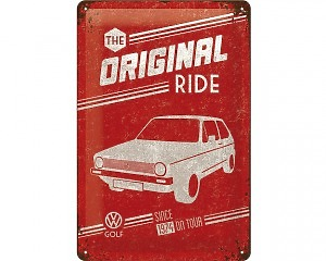 3D Metallskylt VW - Golf Original 20x30