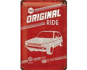3D Metallskylt VW - Golf Original 20x30