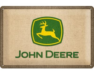 3D Metallskylt John Deere - Patch 20x30