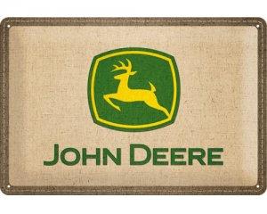 3D Metallskylt John Deere - Patch 20x30