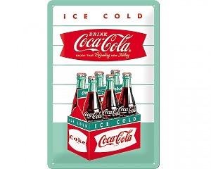 3D Metallskylt Coca Cola - 6-pack 20x30