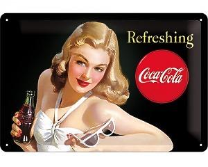3D Metallskylt Coca Cola - Beautie 20x30
