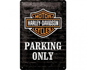 3D Metallskylt Harley-Davidson Parking 20x30