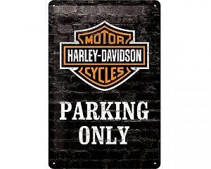 3D Metallskylt Harley-Davidson Parking 20x30