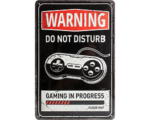 3D Metallskylt Gaming in Progress 20x30