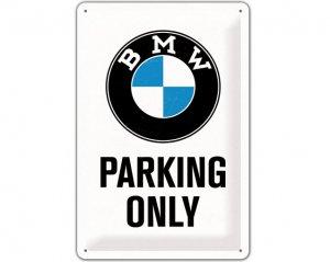 3D Metallskylt B.M.W - Parking Only 20x30