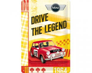 3D Metallskylt Mini - Drive the Legend 20x30