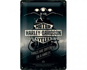 3D Metallskylt Harley-Davidson Things Are Different 20x30