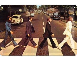 3D Metallskylt Beatles Abbey 20x30