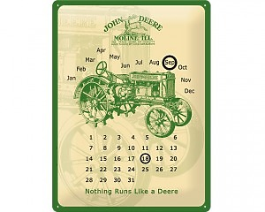3D Metallskylt John Deere - Kalender 30x40