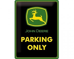 3D Metallskylt John Deere - Parking Only 30x40
