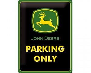 3D Metallskylt John Deere - Parking Only 30x40