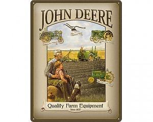3D Metallskylt John Deere - Farm 30x40