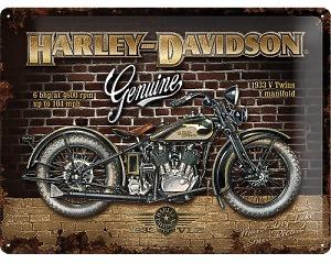 3D Metallskylt Harley-Davidson Bike 30x40