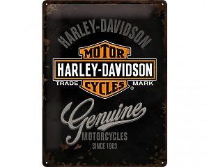 3D Metallskylt Harley-Davidson Genuine 30x40