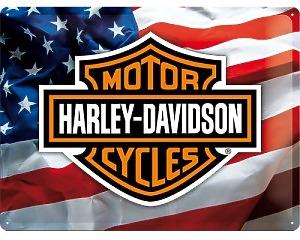 3D Metallskylt Harley-Davidson USA 30x40