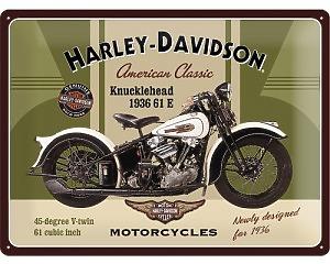 3D Metallskylt Harley-Davidson Knucklehead 30x40