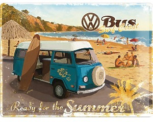 3D Metallskylt VW - Bus Summer 30x40