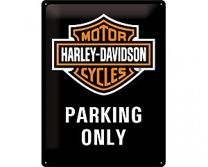 3D Metallskylt Harley-Davidson Parking 30x40