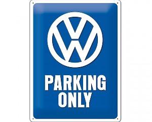 3D Metallskylt VW - Parking Only 30x40